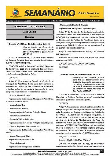 Semanário Oficial - Ed. 811