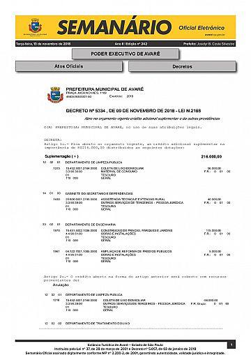 Semanário Oficial - Ed. 242