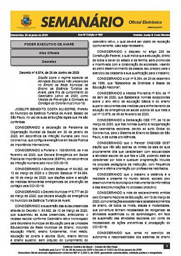 Semanário Oficial - Ed. 663