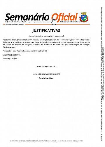 Semanário Oficial - Ed. 29