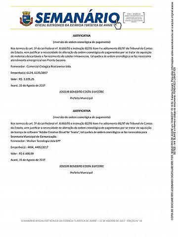 Semanário Oficial - Ed. 34