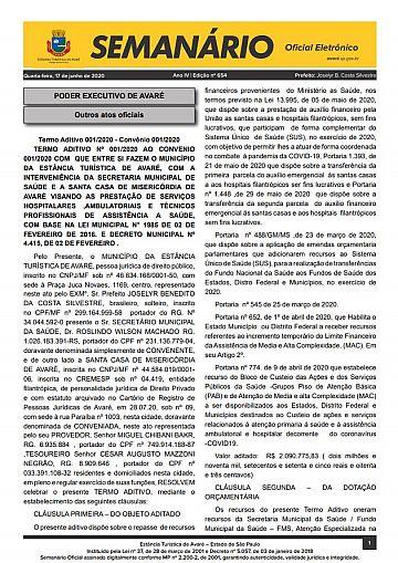 Semanário Oficial - Ed. 654