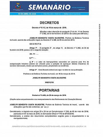 Semanário Oficial - Ed. 131