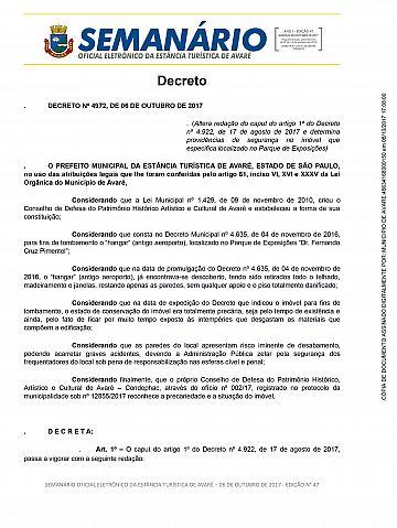 Semanário Oficial - Ed. 47