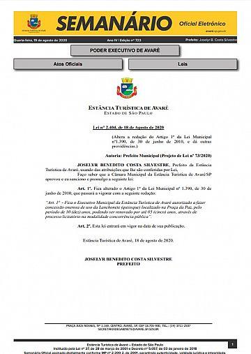 Semanário Oficial - Ed. 723