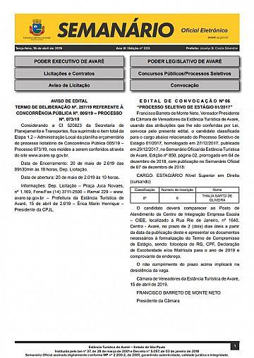 Semanário Oficial - Ed. 323