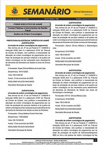 Semanário Oficial - Ed. 788
