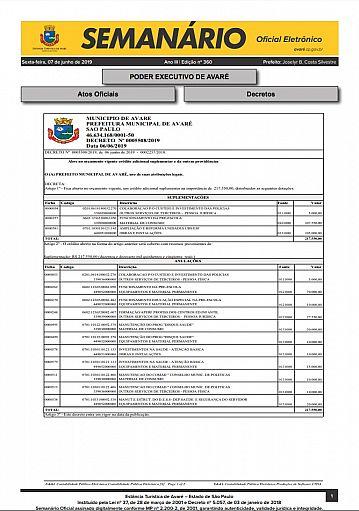 Semanário Oficial - Ed. 360