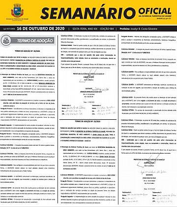 Semanário Oficial - Ed. 984