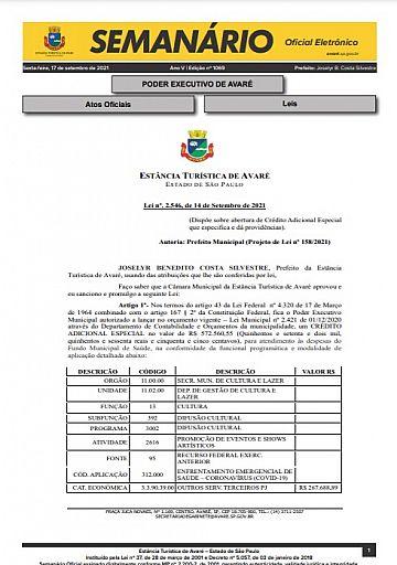 Semanário Oficial - Ed. 1069