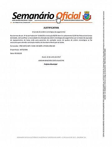 Semanário Oficial - Ed. 26