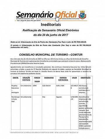 Semanário Oficial - Ed. 25