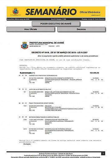 Semanário Oficial - Ed. 295