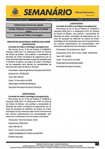 Semanário Oficial - Ed. 773