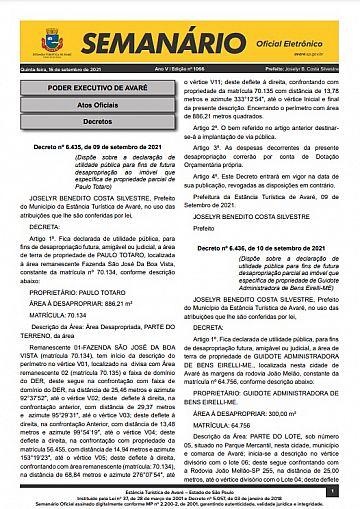 Semanário Oficial - Ed. 1066