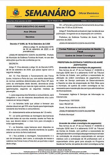 Semanário Oficial - Ed. 746