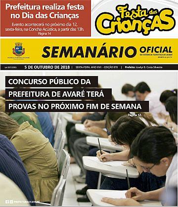 Semanário Oficial - Ed. 878