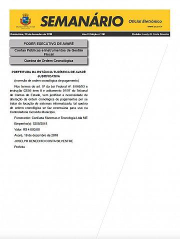Semanário Oficial - Ed. 261