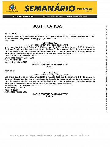 Semanário Oficial - Ed. 149