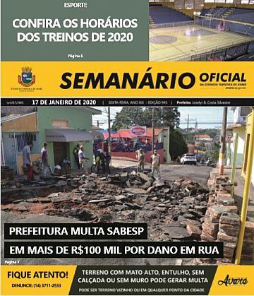 Semanário Oficial - Ed. 945