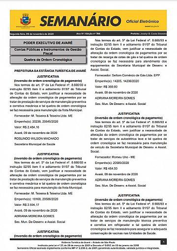 Semanário Oficial - Ed. 786