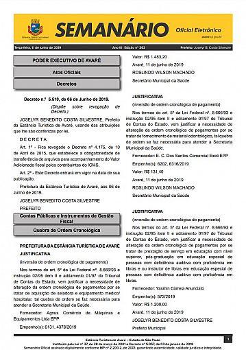 Semanário Oficial - Ed. 363