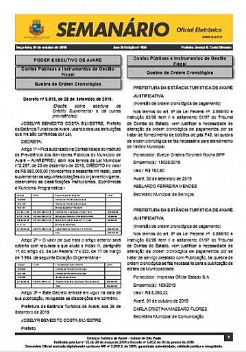 Semanário Oficial - Ed. 450