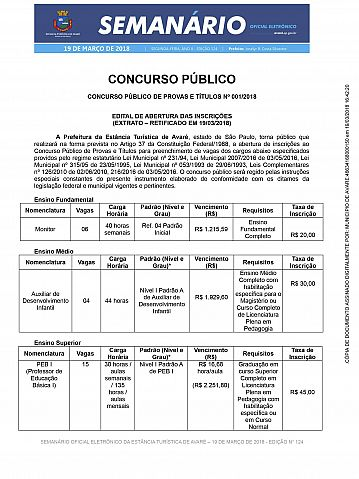 Semanário Oficial - Ed. 124