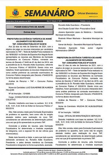 Semanário Oficial - Ed. 1075