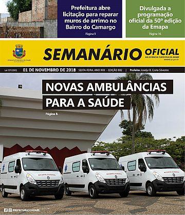Semanário Oficial - Ed. 882