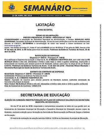 Semanário Oficial - Ed. 139