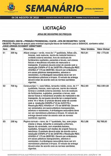 Semanário Oficial - Ed. 186