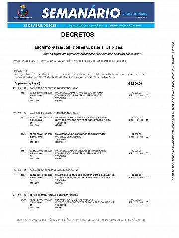 Semanário Oficial - Ed. 138