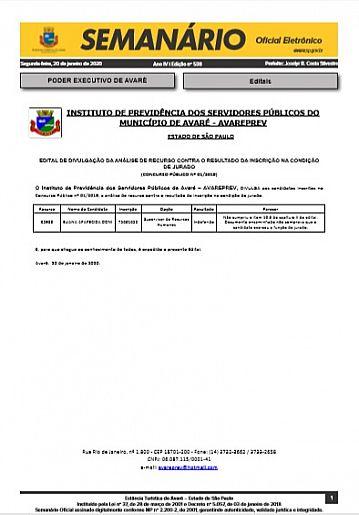 Semanário Oficial - Ed. 538
