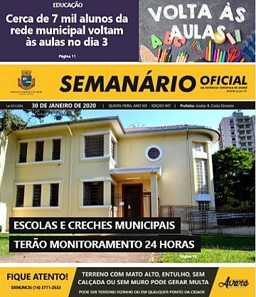 Semanário Oficial - Ed. 947