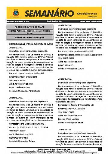 Semanário Oficial - Ed. 536