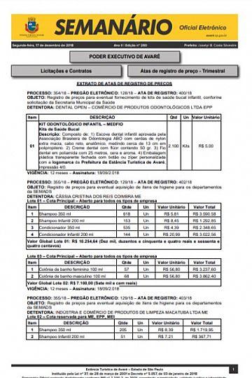 Semanário Oficial - Ed. 260