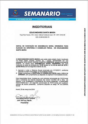 Semanário Oficial - Ed. 125