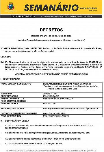 Semanário Oficial - Ed. 173