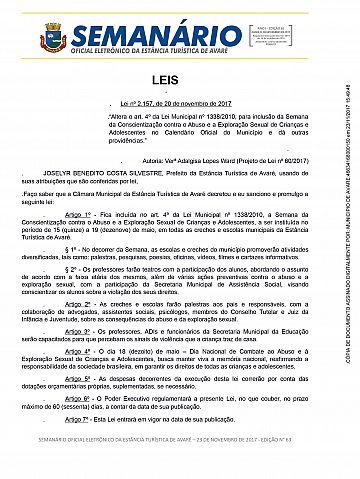 Semanário Oficial - Ed. 63