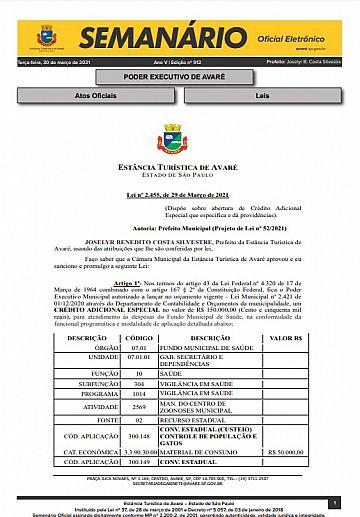 Semanário Oficial - Ed. 912