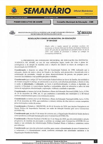 Semanário Oficial - Ed. 661