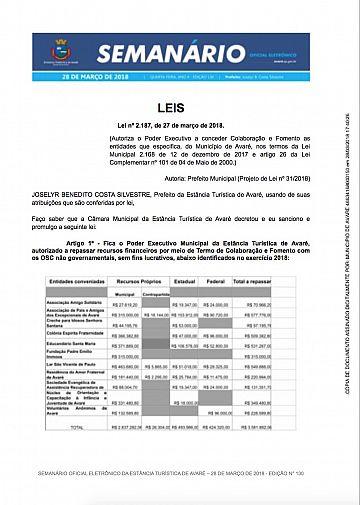 Semanário Oficial - Ed. 130