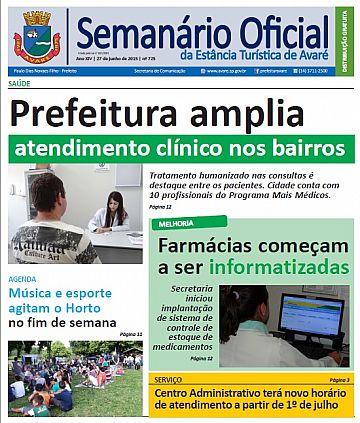 Semanário Oficial - Ed. 725