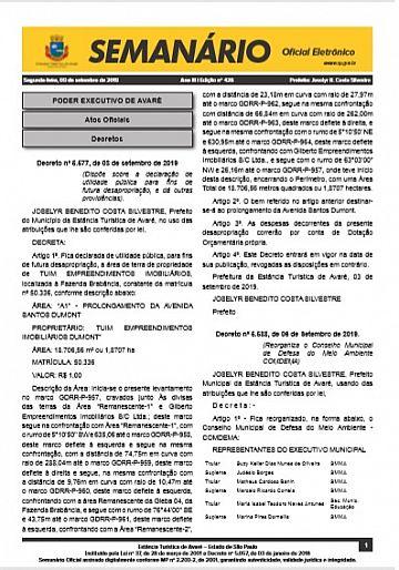Semanário Oficial - Ed. 428