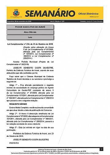 Semanário Oficial - Ed. 237