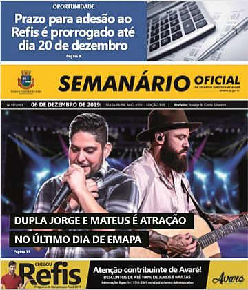 Semanário Oficial - Ed. 939