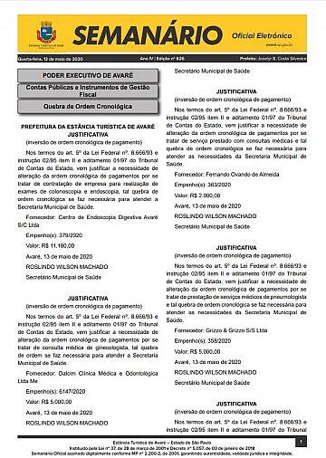 Semanário Oficial - Ed. 626