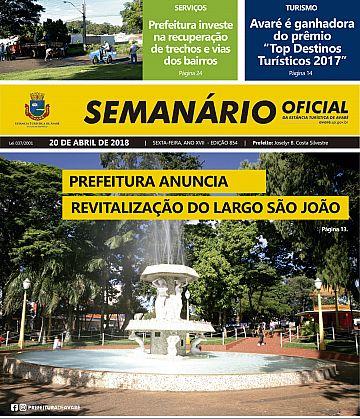 Semanário Oficial - Ed. 854