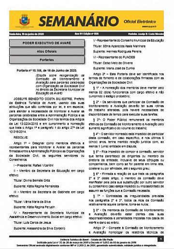 Semanário Oficial - Ed. 656